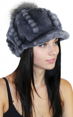 Меховая кепка женская 1