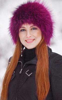 Женская шапка из меха лисы фото 5