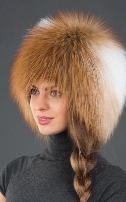 Женская шапка из меха лисы фото 6