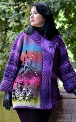 Модные фиолетовые кардиганы фото 2