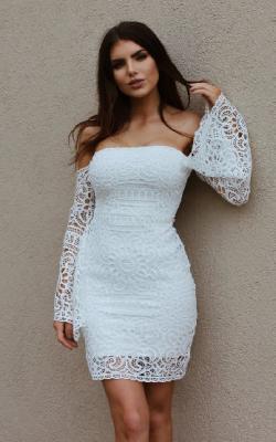 Белое кружевное платье фото 2
