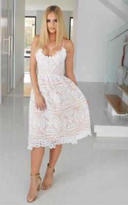 Белое кружевное платье фото 4
