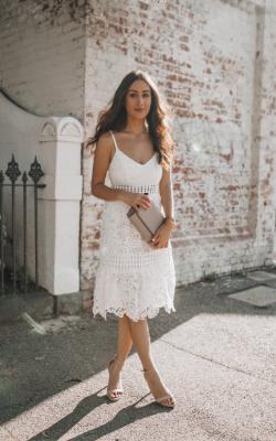 Белое кружевное платье фото 5