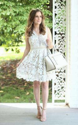 Белое кружевное платье фото 6