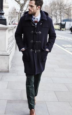 Мужское пальто дафлкот фото1