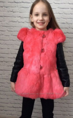 Жилетка для девочки из кролика фото 2