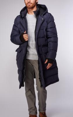 Длинная мужская куртка зима фото 1
