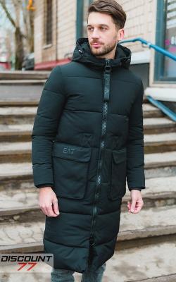 Длинная мужская куртка зима фото 3