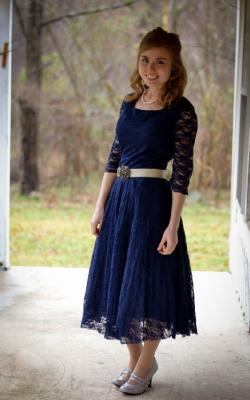 Длинное платье с кружевом 23