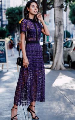 Длинное платье с кружевом 19