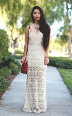 Длинное платье с кружевом 21