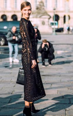 Длинное платье с кружевом 15