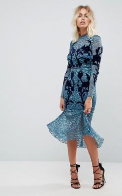 Длинное платье с кружевом 10
