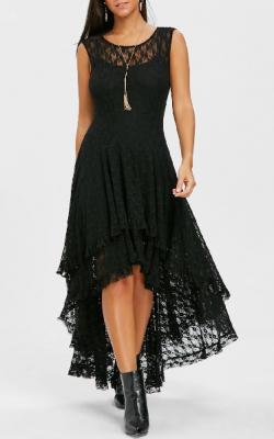 Длинное платье с кружевом 7