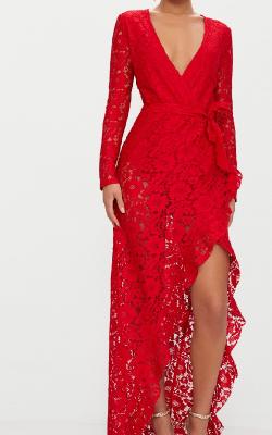 Длинное платье с кружевом 8