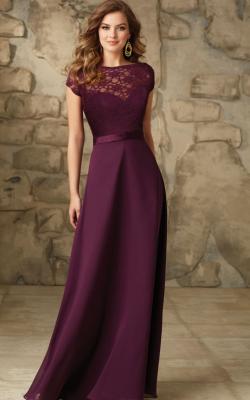 Длинное платье с кружевом 9
