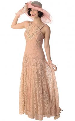 Длинное платье с кружевом 5
