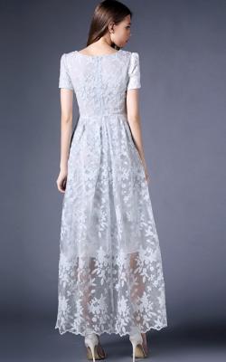 Длинное платье с кружевом 6