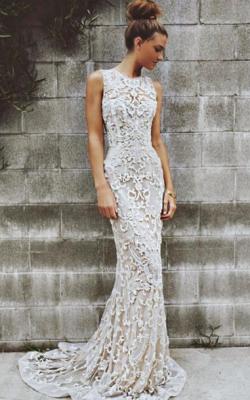 Длинное платье с кружевом 1