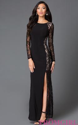 Длинное платье с кружевом 2