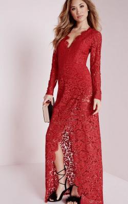 Длинное платье с кружевом 3