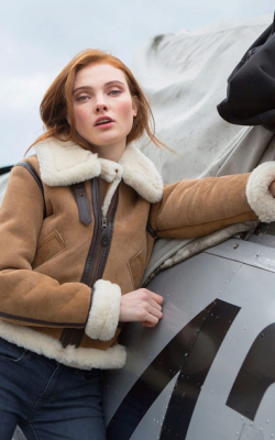Женская дубленка авиатор фото 18