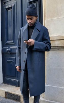 Двубортное мужское пальто фото 2