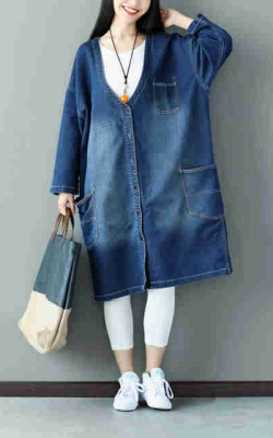 джинсовое пальто Али экспресс фото 2