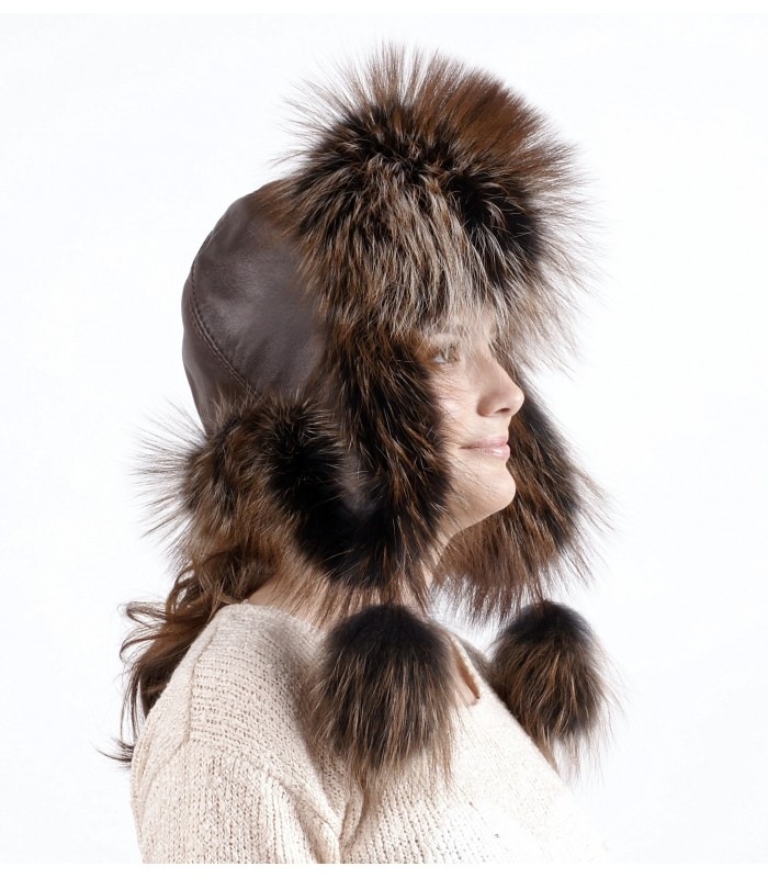 шапка из енота 6