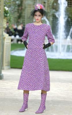 Фиолетовое платье фото 3