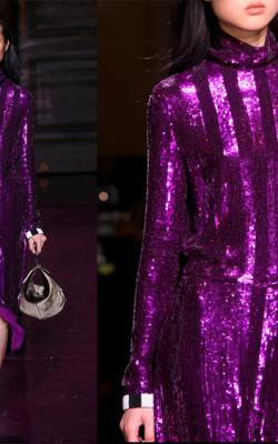 Фиолетовое платье фото 5
