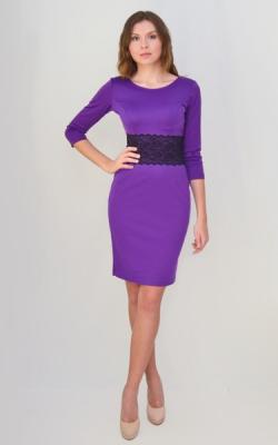 Фиолетовое платье фото 6