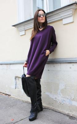 Фиолетовое платье фото 7