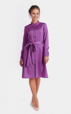 Фиолетовое платье фото 8