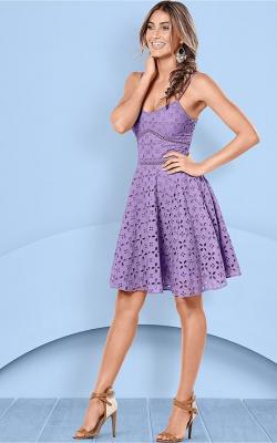 Фиолетовое платье фото 10