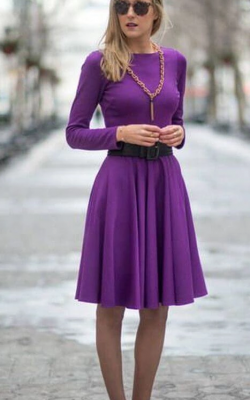Фиолетовое платье фото 12