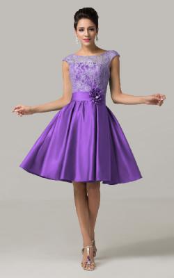 Фиолетовое платье фото 13