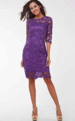 Фиолетовое платье фото 14