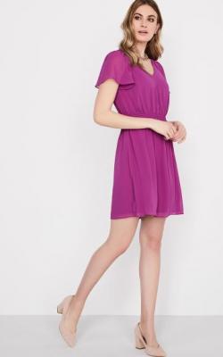 Фиолетовое платье фото 16