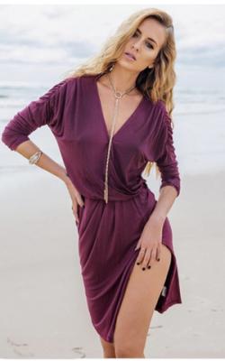 Фиолетовое платье фото 17