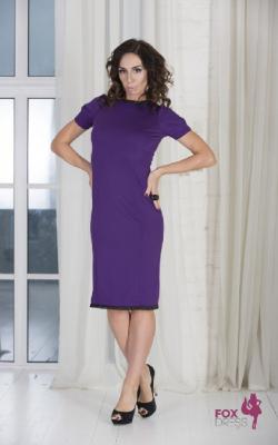 Фиолетовое платье фото 19