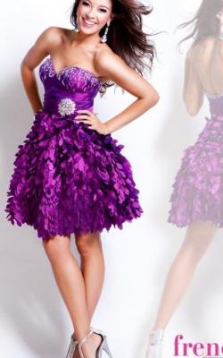 Фиолетовое платье фото 20