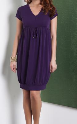 Фиолетовое платье баллон 2