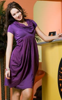 Фиолетовое платье баллон 3
