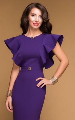 Женское фиолетовое платье 1