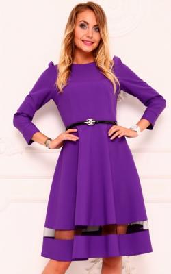 Женское фиолетовое платье 2