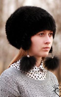 шапка из вязаной норки3