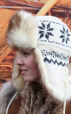Женская шапка ушанка1