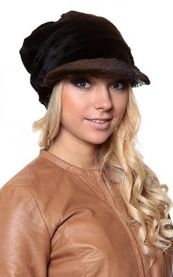 Меховая кепка женская фото2
