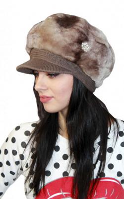 Меховая кепка женская фото3